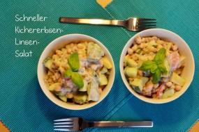 Kichererbsen-Linsen-Salat