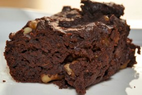 Super sticky vegane Brownies