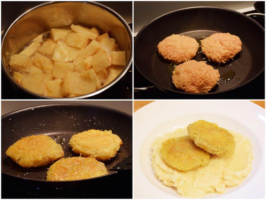 Vorbereitung der veganen Hausmannskost