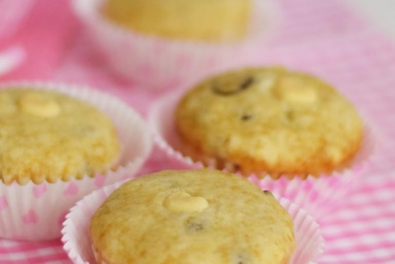 Schokotröpfchen-Muffins mit Herz