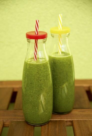 Grüne Smoothies: Kiwi-Melone-Rucola