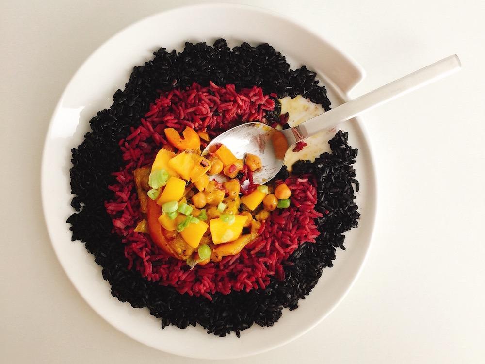 Fruchtiges Kichererbsen-Curry mit Mango
